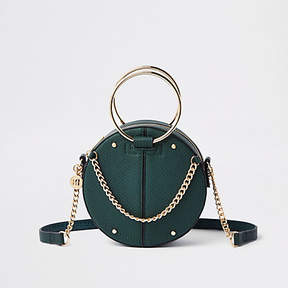 River Island Green ring handle circle cross body bag