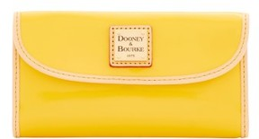 Dooney & Bourke Patent Continental Clutch Wallet - DANDELION NATURAL - STYLE