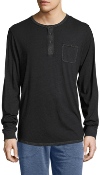 Alternative Apparel Men's Raw Edge Henley