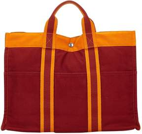 Hermes Toto cloth tote - BURGUNDY - STYLE