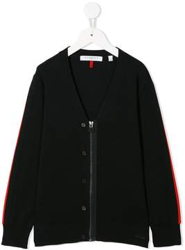 Givenchy Kids knitted zipped cardigan