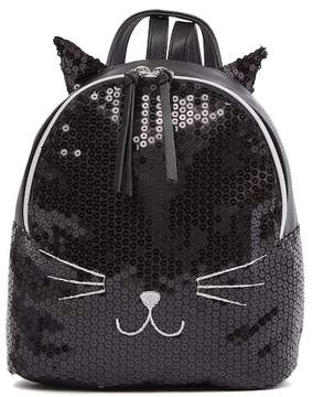 T-Shirt & Jeans Sequin Cat Small Backpack
