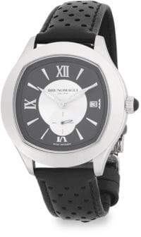 Bruno Magli Classic Leather-Strap Watch