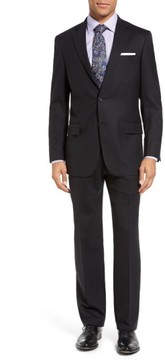 Hart Schaffner Marx Men's New York Classic Fit Solid Stretch Wool Suit