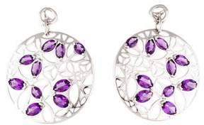 Di Modolo Amethyst Medallion Large Drop Earrings