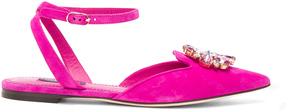 Dolce & Gabbana Suede Belucci Flats
