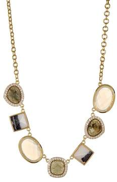 Cole Haan Semi-Precious Stone & Pave Crystal Necklace