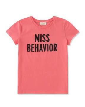 Kate Spade Girls' Miss Behavior Tee, Size 7-14