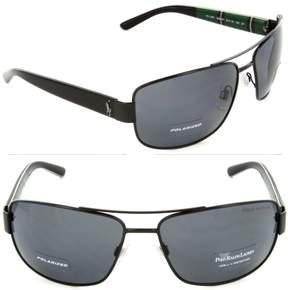 Polo Ralph Lauren PH3087 PH/3087 9267/81 Black Pilot Polarized Sunglasses 64mm