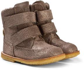 Bisgaard Grey Velcro Boots