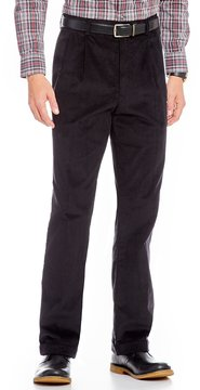 Roundtree & Yorke Big & Tall Pleated Inno-Flex Corduroy Pants