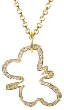 Robert Lee Morris 18K Yellow Gold & Diamond Butterfly Pendant Necklace