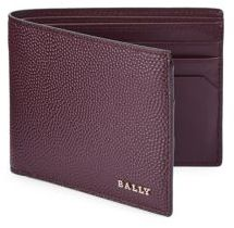 Bally Merlot Leather Bifold Wallet