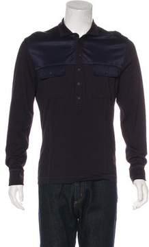Bottega Veneta Long Sleeve Polo Shirt