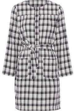A.P.C. Checked Cotton-Blend Mini Dress