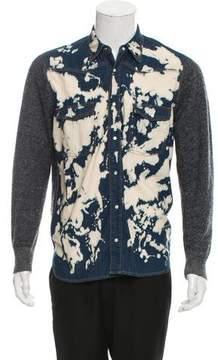 Dries Van Noten Acid Wash Contrast Shirt