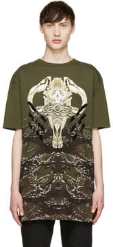 Marcelo Burlon County of Milan Green Vertientes T-Shirt