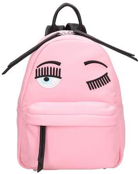 Chiara Ferragni Pink Leather Small Flirting Backpack