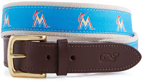 Vineyard Vines Miami Marlins Canvas Club Belt
