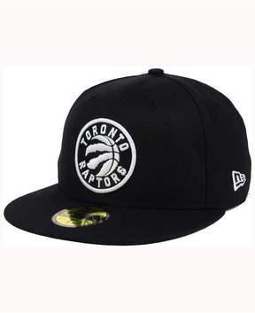 New Era Toronto Raptors Black White 59FIFTY Cap