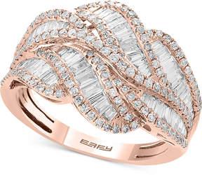 Effy Classique by Diamond Baguette Swirl Ring (1-1/4 ct. t.w.) in 14k Rose Gold