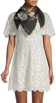 Valentino Women's Floral-Print Silk Scarf