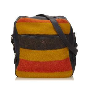 Hermes Victoria wool handbag - YELLOW - STYLE