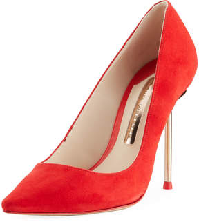 Sophia Webster Suede Pump with Flamingo Heel