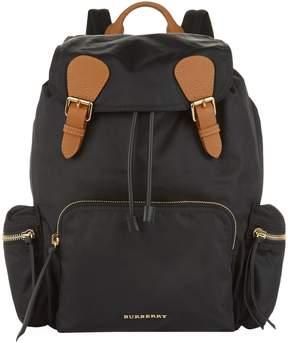 Burberry Medium Logo Backpack - BLACK - STYLE