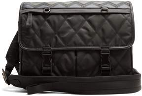 Prada Leather-trimmed quilted cross-body bag