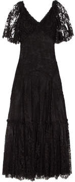 Dolce & Gabbana Corded Lace Gown - Black