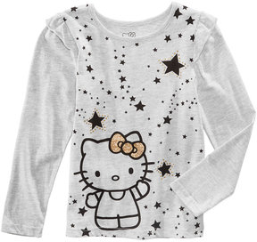 Hello Kitty Stars Glitter T-Shirt, Little Girls (4-6X)