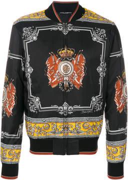 Dolce & Gabbana royal print bomber jacket