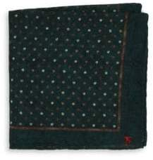 Isaia Polka Dot Pocket Square