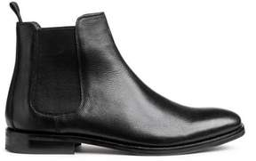 H&M Grained Leather Chelsea Boots