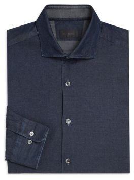 Pal Zileri Solid Cotton Shirt