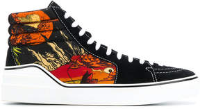 Givenchy printed hi-top sneakers