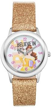 Disney Princess Belle Believe in You Kids' Leather Watch