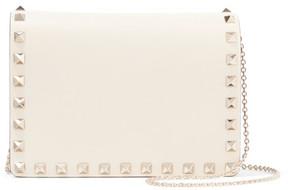 Valentino The Rockstud Leather Shoulder Bag - Ivory