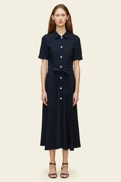 Mansur Gavriel Crepe Short Sleeve Shirt Dress