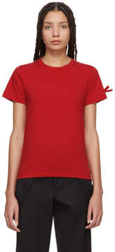 Comme des Garcons Red Bow Sleeve T-Shirt