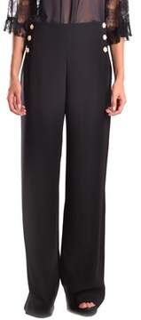 Edward Achour Paris Women's Black Polyester Pants.