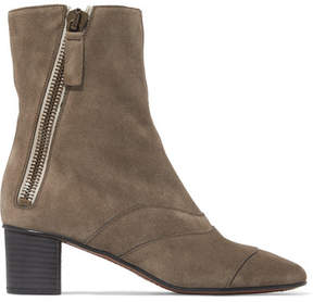 Chloé Lexie Suede Ankle Boots - Mushroom