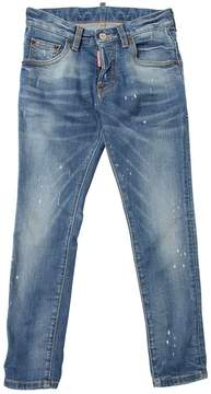 DSQUARED2 Painted Stretch Cotton Denim Jeans