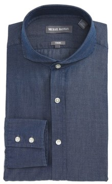 Michael Bastian Men's Trim Fit Micro Foulard Dress Shirt