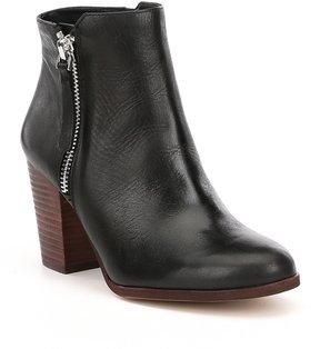 Gianni Bini Chellie Leather Side Zip Booties