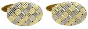 Tiffany & Co. & Co.18K Yellow and White Gold Oval Stud Cufflinks