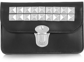 Comme des Garcons Studded Leather Wallet - Black