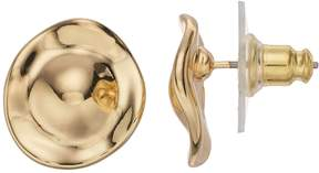 Dana Buchman Dana BuchmanGold Plated Hammered Circle Stud Earrings