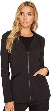 Blanc Noir Vibe Hoodie Blazer Women's Jacket